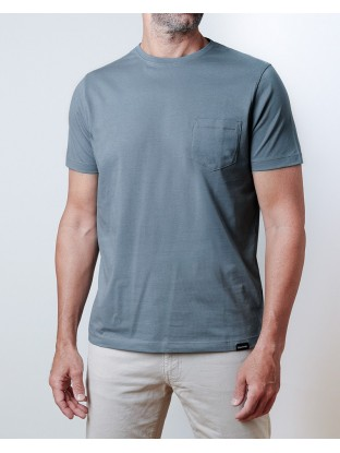 Camiseta Pocket - Azul Denim
