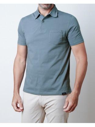 Polo Jersey - Bleu Denim