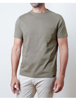 Camiseta Pocket - Kaki