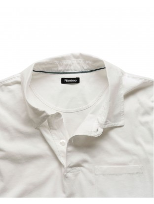 Polo Jersey - Blanc